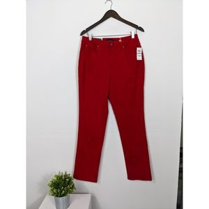 Charter Club Red Lexington Straight Jeans NWT 12